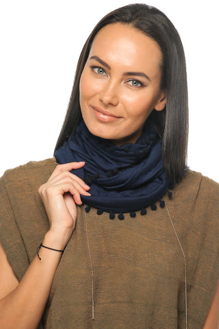 Loopy Scarf - Navy - Gingerlining