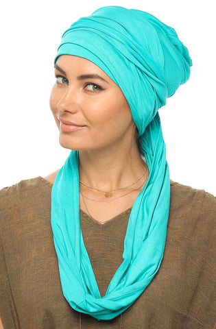 3 Layers Turban - Turquoise - Gingerlining