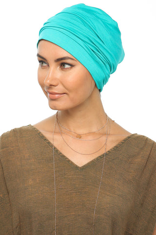 Simple Drape Turban - Turquoise - Gingerlining