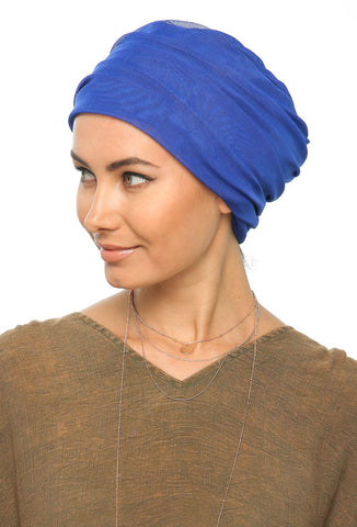 Tulle Simple Turban - Royal Blue - Gingerlining