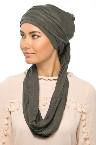 Fuzz 3 Layers Turban - Olive - Gingerlining