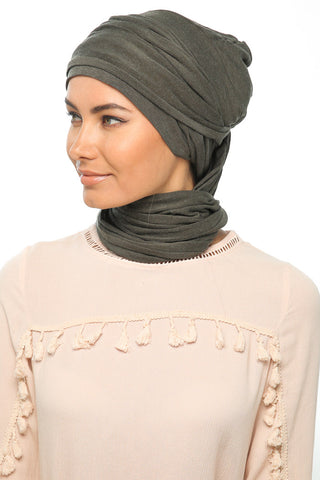 Fuzz 3 Layers Turban - Olive