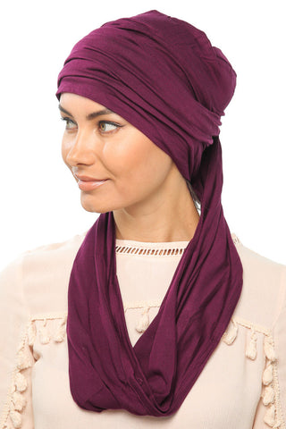 3 Layers Turban - Dark Plum - Gingerlining