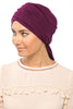 Multi-way Wrap Turban -  Dark Plum - Gingerlining