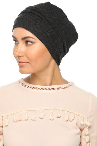Fuzz Drape Turban - Black