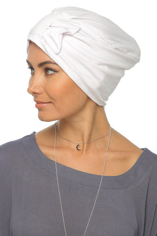 Simple Bow Turban - White - Gingerlining