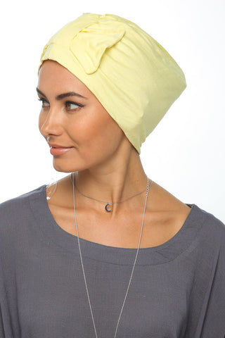 Simple Bow Turban - Yellow - Gingerlining