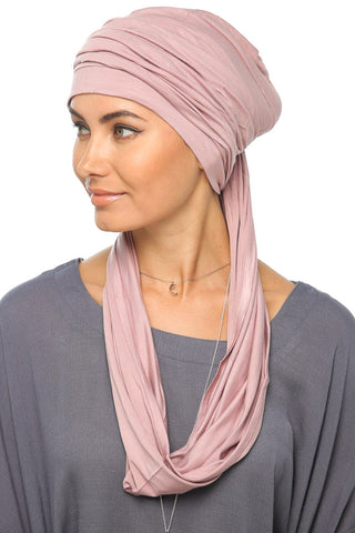 3 Layers Turban - Mauve