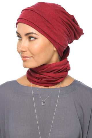 Fuzz 3 Layers Turban - Dark Red