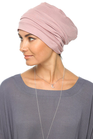 Simple Drape Turban - Mauve