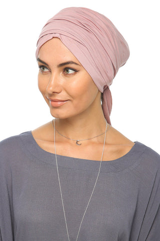 Multi-way Wrap Turban -  Mauve - Gingerlining