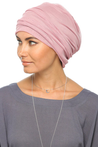 Tulle Simple Turban - Dusty Pink - Gingerlining