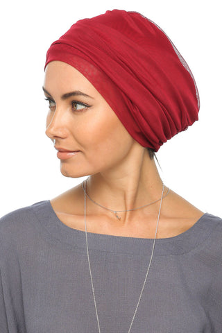 Tulle Simple Turban - Red - Gingerlining