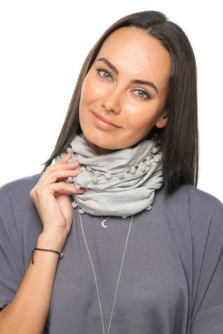 Loopy Scarf - Light Grey - Gingerlining