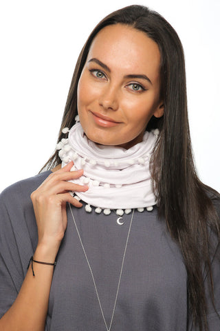 Loopy Scarf - White - Gingerlining