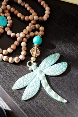 Peanus Beads Dragonfly Necklace