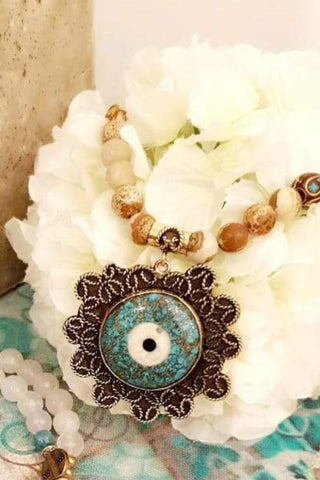 Earth Beads Blue Eye Necklace