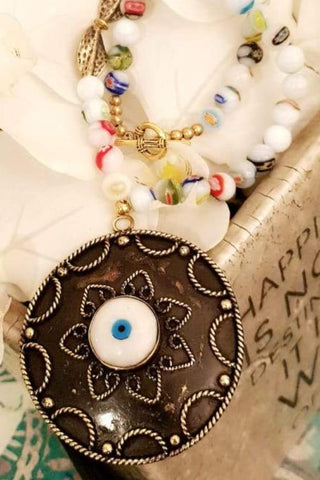 Candy Beads Eye Stone Necklace