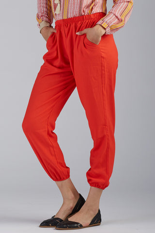 Elasticated Crepe Pants