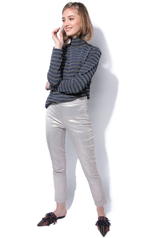 Metallic Striaght Leg Trousers