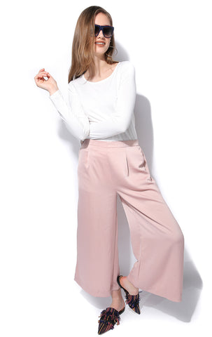 Satin Wide Leg Trousers - Gingerlining