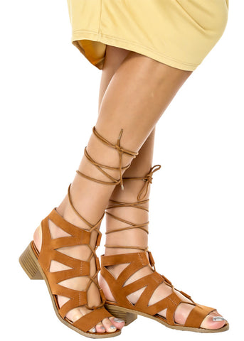 April Gladiator Sandals - Gingerlining