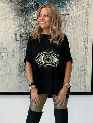 Get It Right Basic Tee- Black / Evil eye
