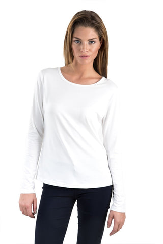 Basic Solid Knit Top- White - Gingerlining