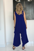 Cotton Harem Jumpsuit - Blue (5589642281114)