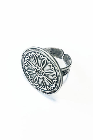 Circle of life ring – 925 Egyptian sterling Silver - Gingerlining (484223320102)