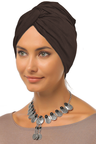 Simple Knot Turban - Dark Mocha - Gingerlining
