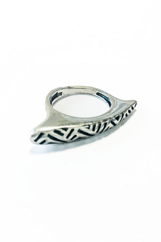 Engraved Free Spirit Ring – 925 Egyptian sterling Silver - Gingerlining (484210868262)