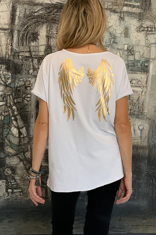 Gold Angel Tee - White (1870164131884)