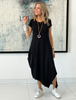 Short Sleeves Total Comfort Dress - Black (4170117021829)
