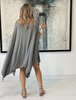 Colored Skull Cotton Poncho Top - Grey (4170128851077) (5675045978266)