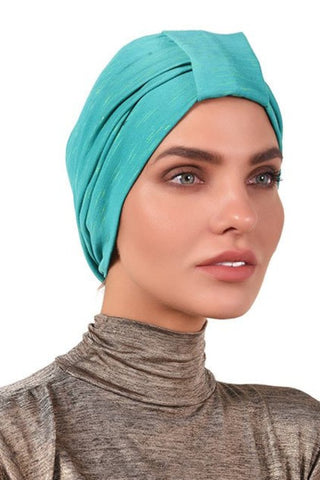 Simple Tab Turban - Green&Yellow - Gingerlining