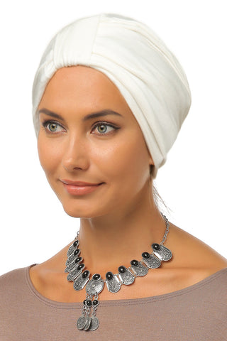 Simple Tab Turban - Off White - Gingerlining (9942433041)