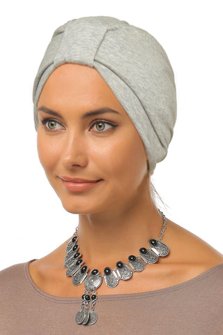 Simple Tab Turban - Light Grey - Gingerlining (9942465873)