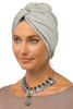 Simple Knot Turban - Light Grey - Gingerlining