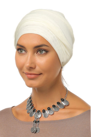 Tulle Simple Turban - Off White - Gingerlining (9888204369)