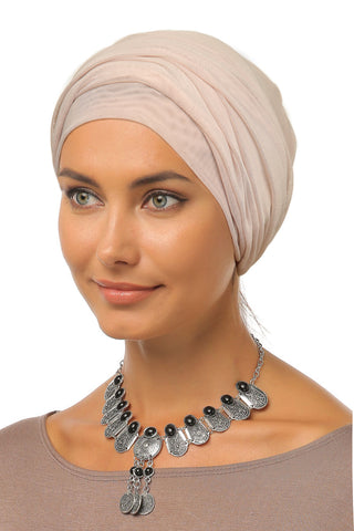 Tulle Simple Turban - Nude - Gingerlining