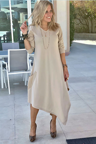 Long Sleeves Total Comfort Dress - Beige (Winter Fabric)