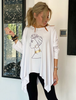 3/4 Sleeves Poncho Top - White/African Lady (4360075116677)