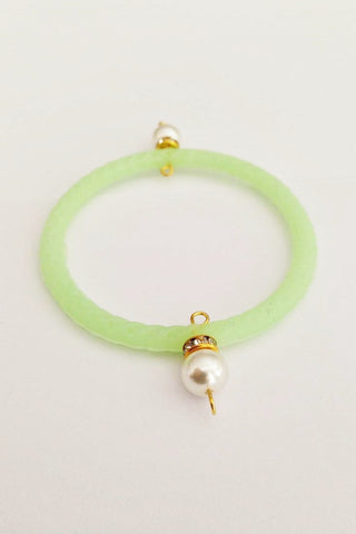 Jelly Bangle- stone - Mini-Green-Pearl - Gingerlining