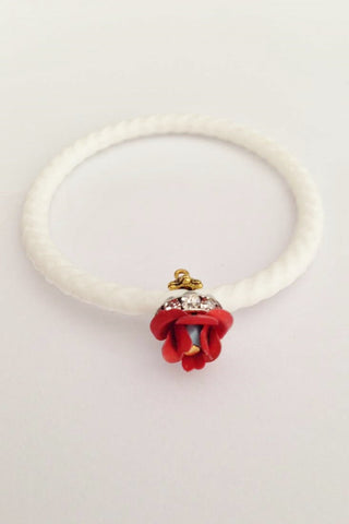 Jelly Bangles- mini-White-Small Flower - Gingerlining