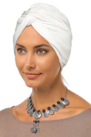 Simple Knot Turban - White - Gingerlining