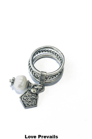 Stacking Ring – 925 Egyptian sterling Silver / White Stone - Gingerlining (484053647398)