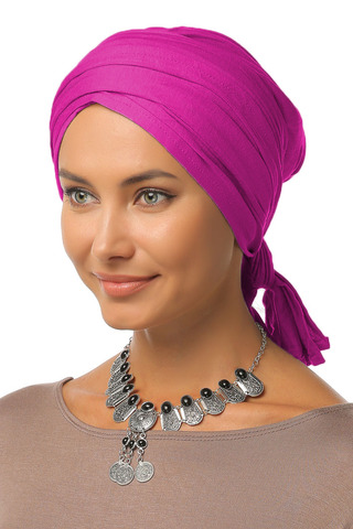 Multi-way Wrap Turban -  Hot Pink - Gingerlining (9968689617)