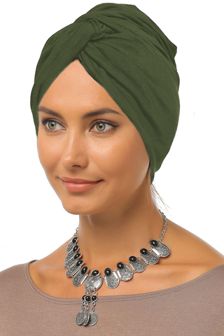 Simple Knot Turban - Olive - Gingerlining (9968677841)