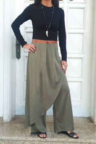 Jersey Pants with Overlay (6239362187438)